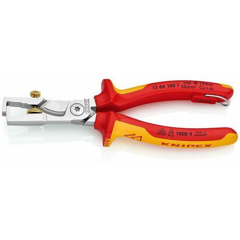 Knipex StriX Abisolierzange mit Kabelschere 180 mm - 13 66 180 T