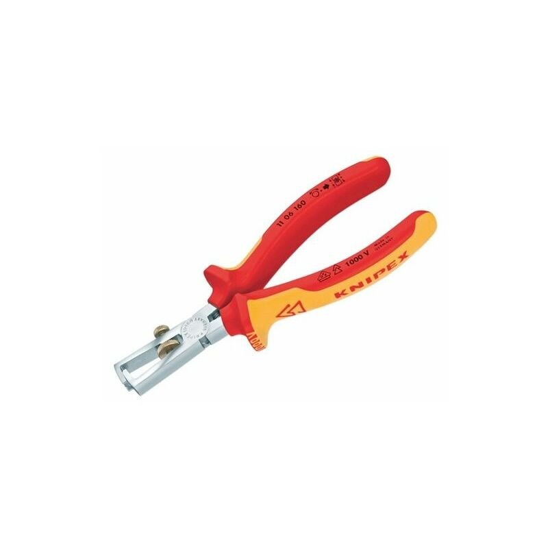 Image of 11 06 160 SB VDE Insulation Strippers 160mm - Knipex