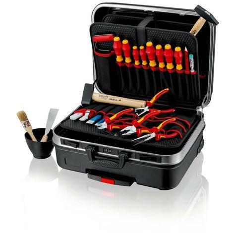 KNIPEX Werkzeugsortiment Werkzeugsortiment BIG Basic Move Elektro 24-teilig im Hartschalenkoffer für Elektriker
