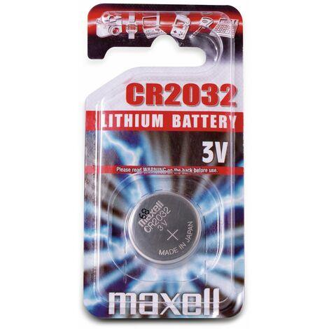 Knopfzelle MAXELL, CR2032, Lithium, 3 V-, 220 mAh, 1 Stück
