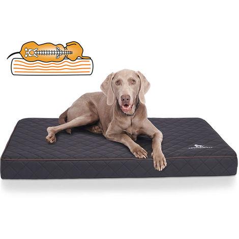 Knuffelwuff Juna, Tapis matelas orthopédique pour chien en similicuirsurpiquage au laser
