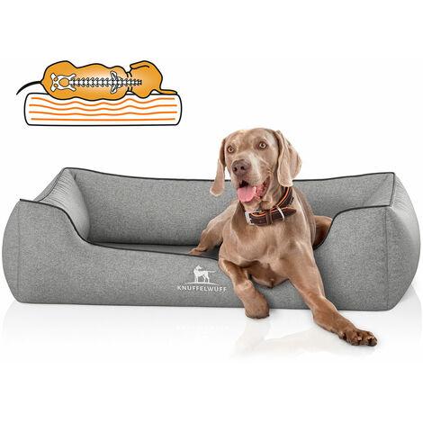 Knuffelwuff Lit orthopédique pour chien en velours Amelie