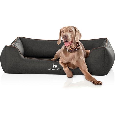 Knuffelwuff Orthopädisches Hundebett Amelie aus Velours mit Handwebcharakter