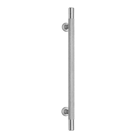 Knurled Cupboard Handles in Satin Nickel 128mm