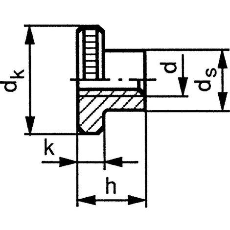 Knurled Thumb Nuts - Metric - Steel - Grade 5 - BZP (Bright Zinc Plated) - DIN 466