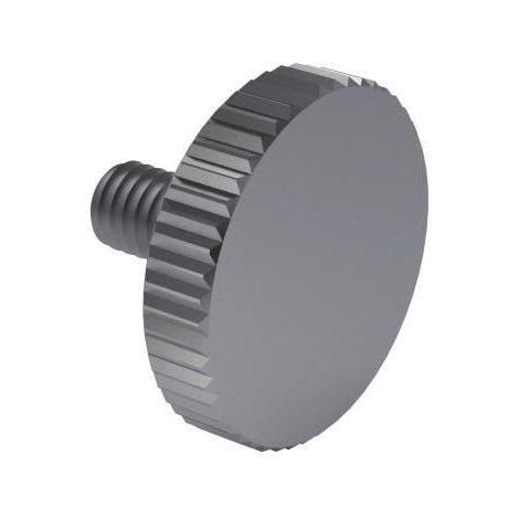 Knurled thumb screw thin type DIN 653 Steel Plain
