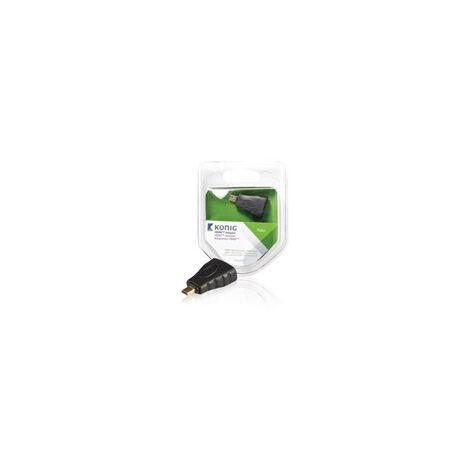 KNV34907E ADAPT MICRO HDMI MACHO - HDMI HEMBRA 1U GRIS