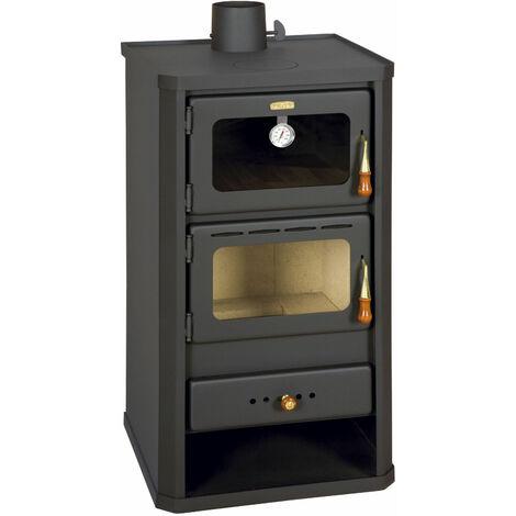 Kochender Holzofen mit Ofen Festbrennstoffkocher 12 kw Heizung Prity FM