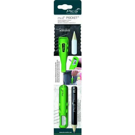 Köcher Pocket f.Blei/Markierstifte m.Spitzmesser m.2 Steinhauerbleibstiften PICA
