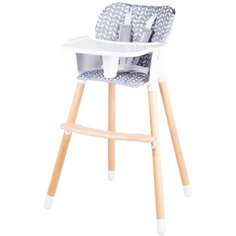 KOEN Chaise haute en bois style scandinave et évolutive Jaune - Jaune