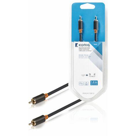 König Cable de audio digital de RCA macho - macho, de 1 metro de largo, disfruta de sonido envolvente digital