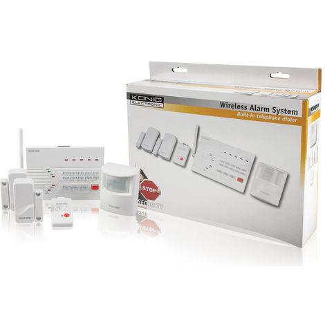 "main image of ""König Kit alarme sans fil PSTN - 433 MHz / 100 dB NE1111575"""