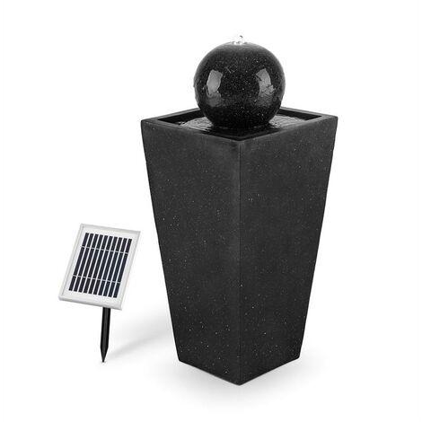 Königsbrunn Fuente solar 200 l/h LED Batería Aspecto de basalto