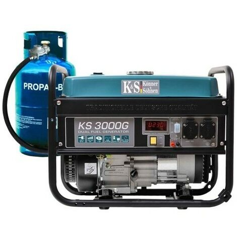 Könner & Söhnen gaz/essence Groupe électrogène 3000W KS3000G - Bleu