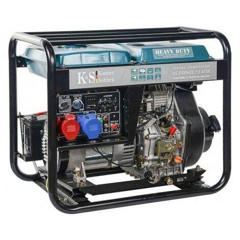 """main image of """"Könner & Söhnen Groupe électrogène 6500W Diesel 230V/400V KS8100HDE-1/3ATSR - bleu"""""""