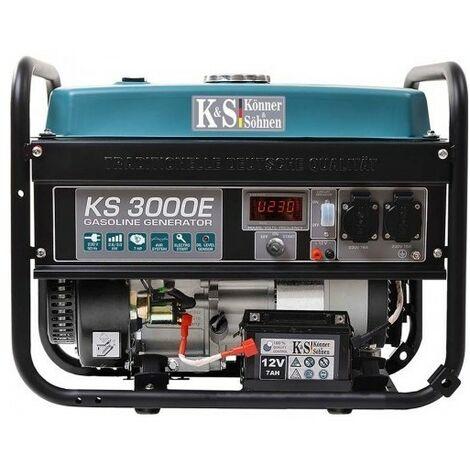 Könner & Söhnen Groupe électrogène essence déma élec 3000W KS 3000E - Bleu