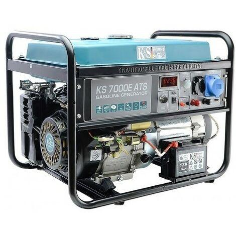 Könner & Söhnen Groupe électrogène essence déma élec 5500W KS 7000E-ATS - Bleu