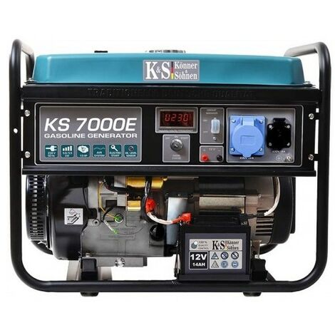 Könner & Söhnen Groupe électrogène essence déma élec 5500W KS 7000E - Bleu