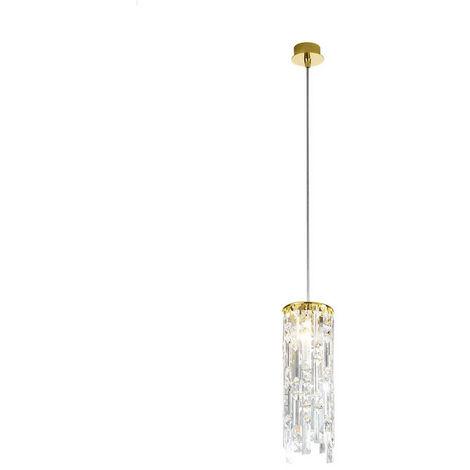 Kolarz PRISMA - Designer Crystal Pendant Light Polished Gold, 1x G9