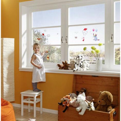 Komar 16403Disney Winnie l\'Ourson Freestyle fenêtre deco autocollant Motif-Multicolore 13pièces