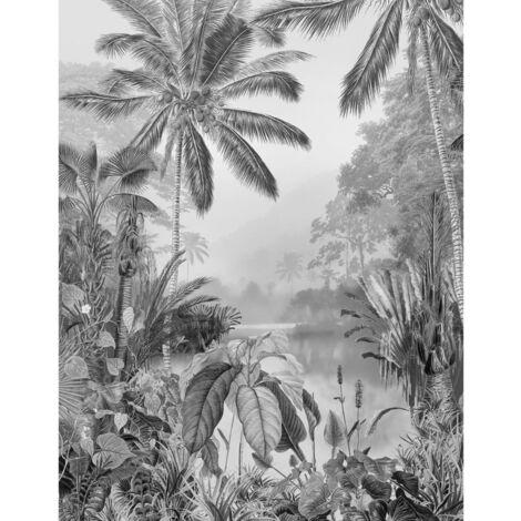 "main image of ""Komar Foto Murale Lac Tropical Black & White 200x270 cm"""