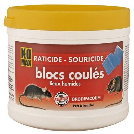 KOMAX RATICIDE SOURICIDE BLOC240G (Vendu par 1)