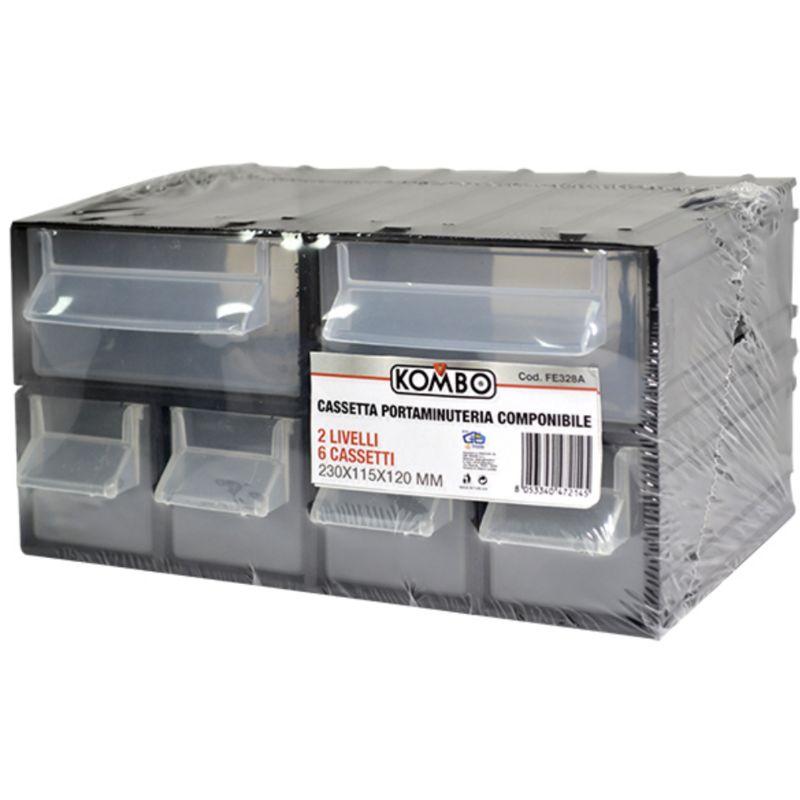 Cassettiere Componibili In Plastica.Kombo Cassettiera Porta Attrezzi 6 Cassetti Scomparti