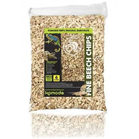 Komodo Course Beech Wood Chips (6L) (May Vary)