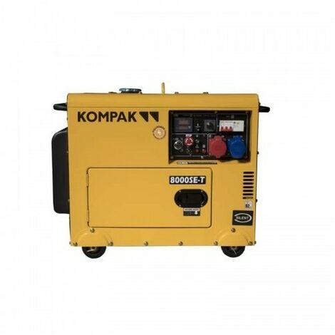KOMPAK 8kva diesel mono et triphasé groupe électrogène K NT-8000 SE-T - jaune