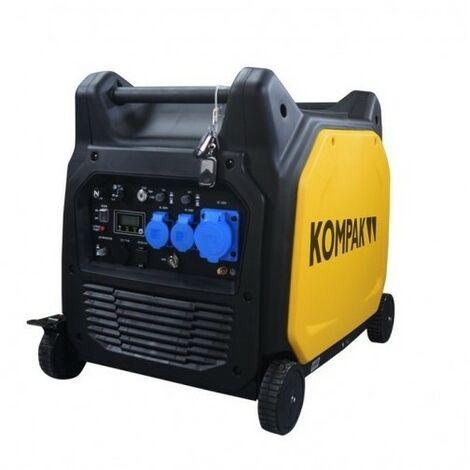 "main image of ""KOMPAK Groupe électrogène 6500W Essence 230V Inverter Insonorisé KGG65EI - jaune"""