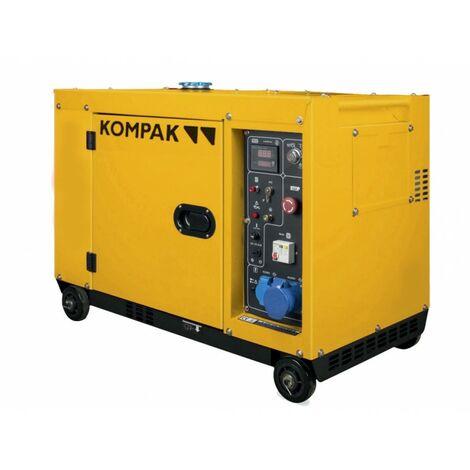 Kompak Groupe électrogène Diesel 6300W monophasé KD8000SE - La couleur peut varier selon le stock