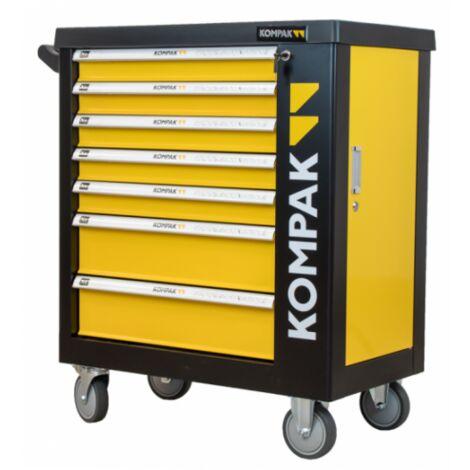 KOMPAK Servante d'atelier professionnelle 252 outils inclus LZ01 - jaune