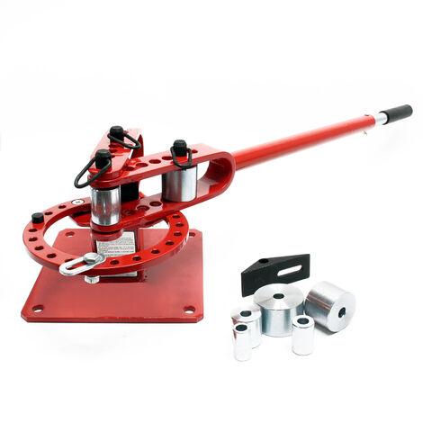 Kompaktes Universal Biegegerät Biegemaschine für Rundstahl, Vierkantstahl & Baustahl
