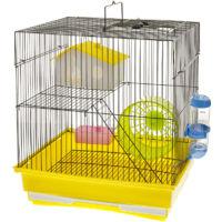 Kompletter Hamsterkäfig mit 2 Etagen Modell Ferrara 35x28x37 cm
