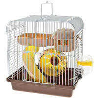 Kompletter Käfig für Hamster 22x16x24 cm in blauer Fantasie