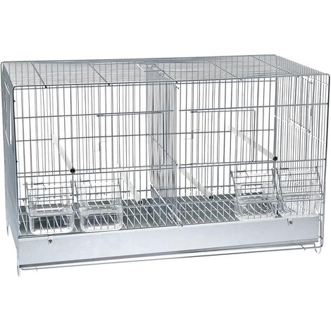 Kompletter Käfig mit Stahltrennwand für Vögel Ferribiella