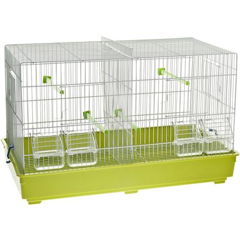 Kompletter Käfig mit Vogelteiler
