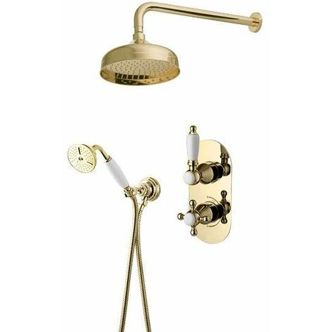 Komplettes Thermostat-Duschset in Gold Gattoni Orta KT105/27D0.OLD | Gold