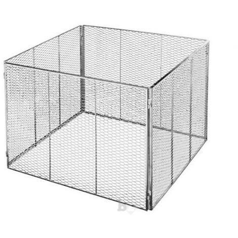 Komposter Streckmetall feuerverzinkt 100x100x80cm