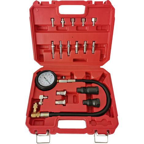 Kompressionsprüfer für PKW/ LKW Dieselmotoren 0-70 bar PKW LKW 21-teiliges Set
