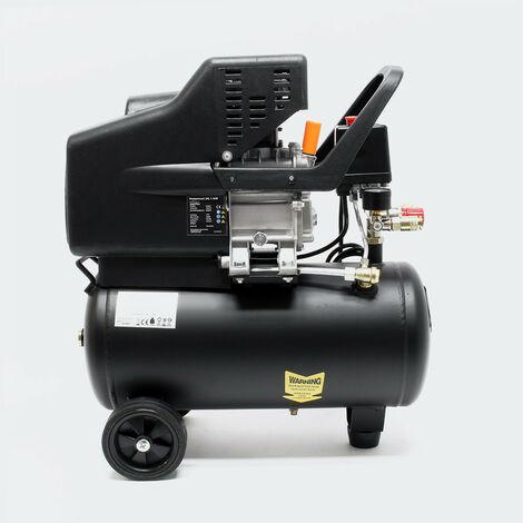 Kompressor 24 Liter 1,1 kW Druckluft 8 bar rollbar Druckluftkompressor