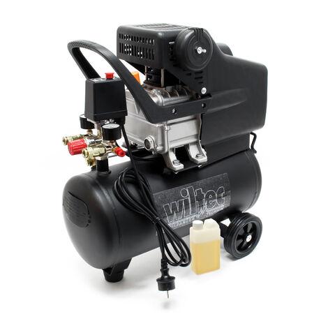 Kompressor Druckluftkompressor mit 24 Liter Tank 1,1 kW Motor 8 bar Druckluft rollbar mit Griff