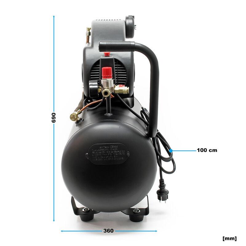 Kompressor Druckluftkompressor mit 50 Liter Tank 1,5 kW Motor 8 bar Druckluft rollbar mit Griff