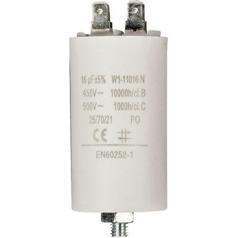 Kondensator Motorkondensator Anlaufkondensator Arbeitskondensator 450V 16.0 µF / 16 uF