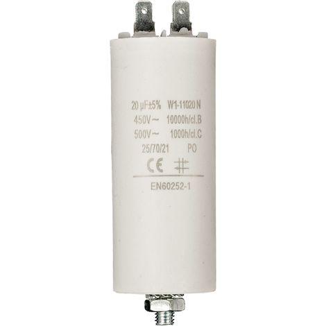 Kondensator Motorkondensator Anlaufkondensator Arbeitskondensator 450V 20.0 µF / 20 uF