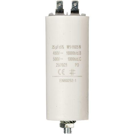 Kondensator Motorkondensator Anlaufkondensator Arbeitskondensator 450V 25.0 µF / 25 uF