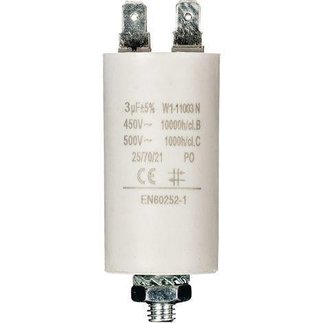 Kondensator Motorkondensator Anlaufkondensator Arbeitskondensator 450V 3.0 µF / 3 uF