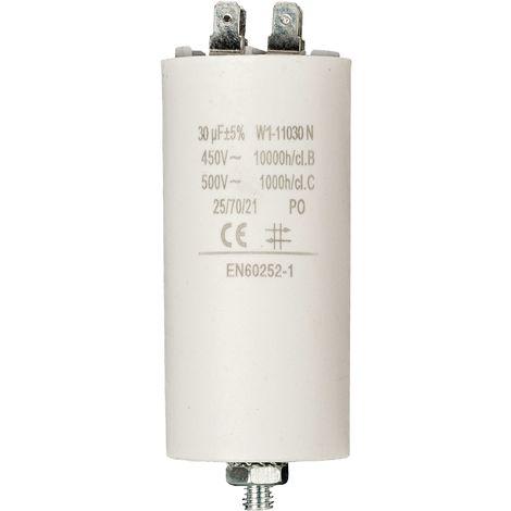 Kondensator Motorkondensator Anlaufkondensator Arbeitskondensator 450V 30.0 µF / 30 uF