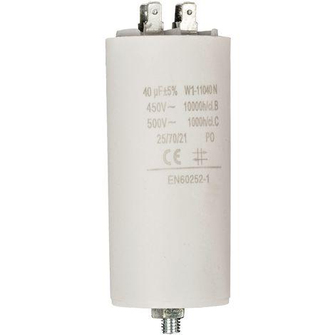 Kondensator Motorkondensator Anlaufkondensator Arbeitskondensator 450V 40.0 µF / 40 uF