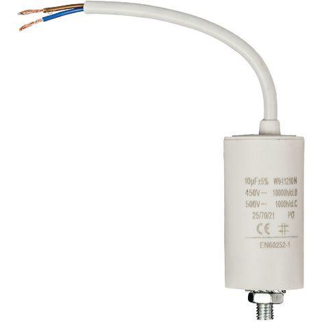 Kondensator Motorkondensator Anlaufkondensator Arbeitskondensator mit Kabel 450V 10.0 µF / 10 uF